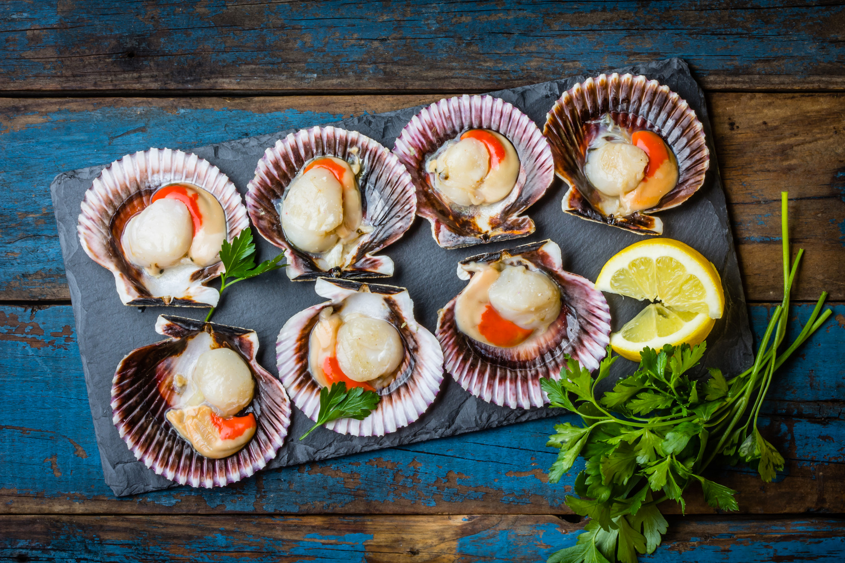 Rosemary and lemon scallop skewers