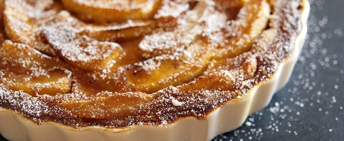 Caramelised apple and pear pie