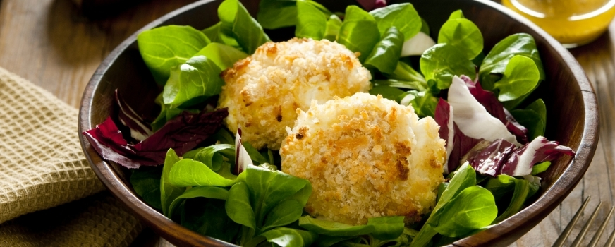 Honey nut goat cheese croquettes