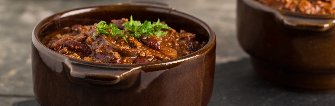 Vegan aubergine chilli